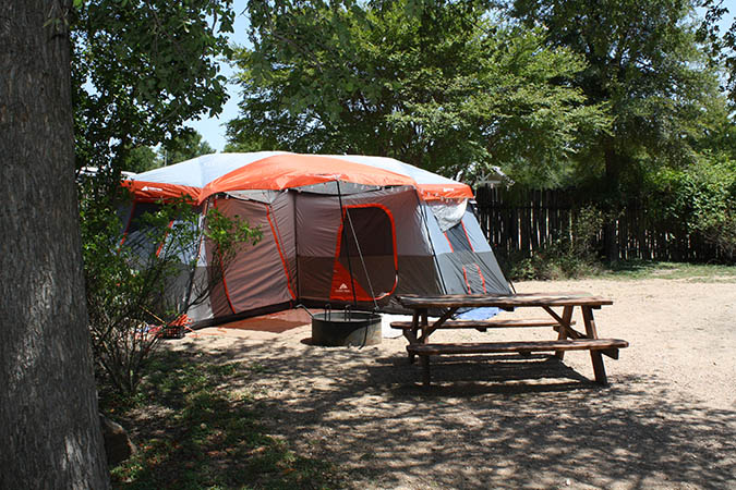beautiful tent sites in the texas wine country in fredericksburg tx